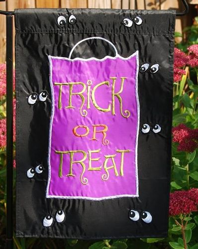 "Trick or Treat Halloween Garden Flag 12""x18"""