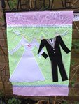 "Mr & Mrs Wedding Garden Flag 12""x 18"""