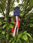 "USA Patriotic Mini Stars & Stripes 17"" Windsock"
