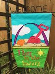"""Fun in the Sun "" Bucket & Spade Summer Garden Flag 12""x 18"""