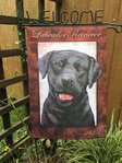 "Black Labrador Retriever Garden Flag 12"" x 18"""
