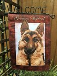 "German Shepherd Welcome Garden Flag 12""x18"""