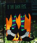 "If the Shoe Fits Halloween Garden Flag 12""x18"""