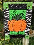"Pumpkin Whimsy Halloween Garden Flag 12""x 18"""