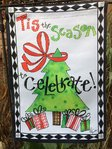 "Tis the Season to Celebrate Christmas Garden Flag 12"" x 18"""
