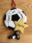 Football Star Personalised Decoration