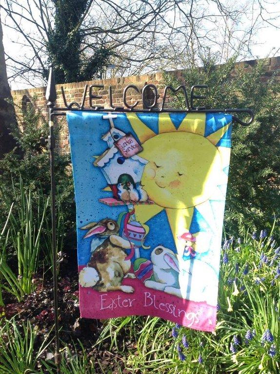 Rejoice Easter Garden Flag 12 X 18