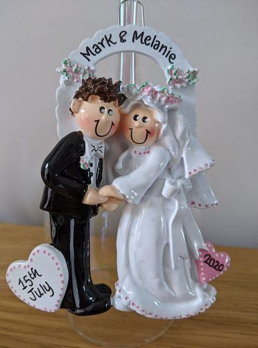 Wedding Couple Arch Personalised Christmas Decoration