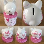 "Princess ""Once Upon a Time"" Personalised Ceramic Piggy Bank"