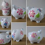 Butterfly Personalised Ceramic Piggy Bank