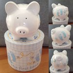 Baby Boy's My 1st Personalised Ceramic Piggy Bank