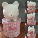 Baby Girl's My 1st Personalised Ceramic Piggy Bank