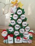 Peppermint Tree Table Top Personalised Christmas Decoration