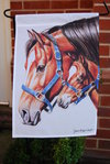 "Mother and Foal Garden Flag 12"" x 18"""