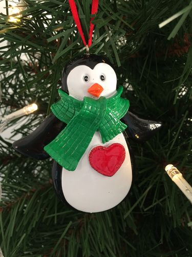 Penguin Personalised Christmas Tree Decoration