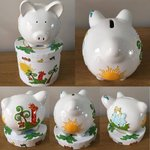 Jungle Animals Personalised Ceramic Piggy Bank