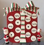 Big Present Table Top Personalised Christmas Decoration
