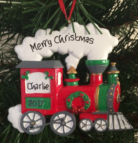Steam Train Personalised Christmas Tree Decoration