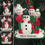 Making a Snowman Family Personalised Christmas Tree Decoration