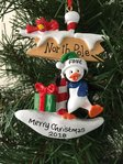 North Pole Penguin Personalised Christmas Decoration