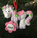 Unicorn Personalised Christmas Tree Decoration