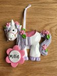 Unicorn Personalised Decoration