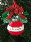 Red Round Bauble Personalised Christmas Tree Decoration