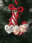Red Candy Cane Baby Personalised Christmas Tree Decoration