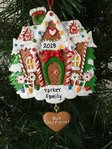 Our Sweet Home Gingerbread House Personalised Christmas Tree Decoration