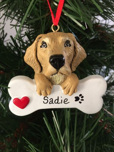 Golden Retriever Personalised Christmas Tree Decoration