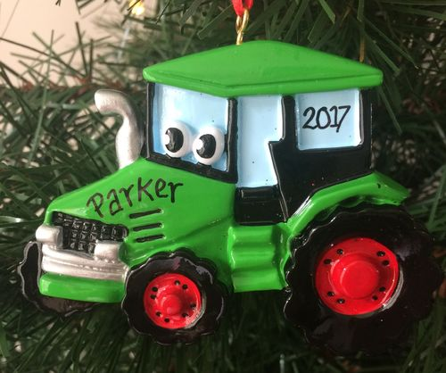 Tractor Toy Personalised Christmas Tree Decoration