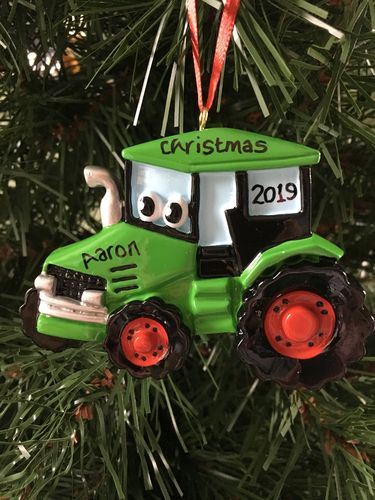Tractor Toy Personalised Christmas Decoration