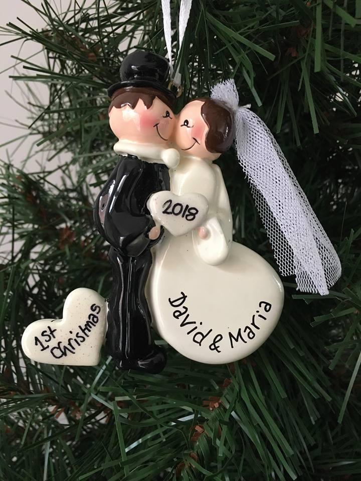 Wedding Kiss Personalised Christmas Decoration