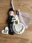 Wedding Kiss Personalised Decoration