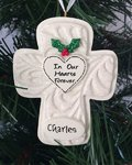 In Our Hearts Forever Memorial Cross Personalised Christmas Tree Decoration