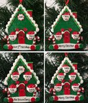 Candy Cane House Family Personalised Christmas Tree Decoration