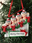 Christmas Staircase Family of 4 Personalised Christmas Tree Decoration