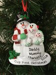Family 1st Christmas Personalised Christmas Decoration