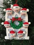 Christmas Windows Family of 7 Personalised Christmas Decoration