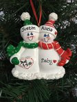 Expecting Snow Couple Personalised Christmas Decoration