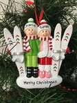 Skiing Couple Personalised Christmas Decoration
