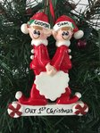 Close Friends Same Sex Male Couple Personalised Christmas Decoration