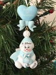 Baby's 1st Christmas Blue Snowbaby Boy Personalised Christmas Decoration