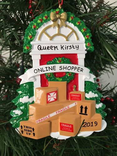 Online Shopper Personalised Christmas Decoration