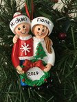 Christmas Jumper Couple Personalised Christmas Decoration