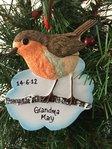Robin Personalised Christmas Decoration