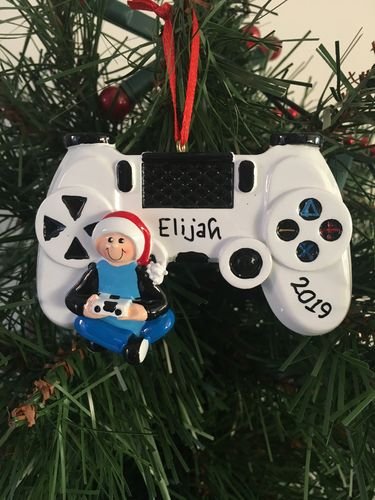 Video Game Controller Personalised Christmas Decoration