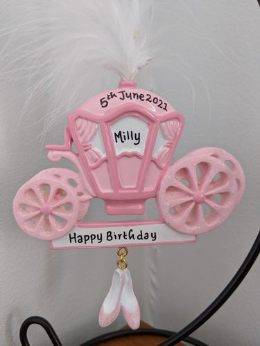 Princess Carriage Personalised Decoration