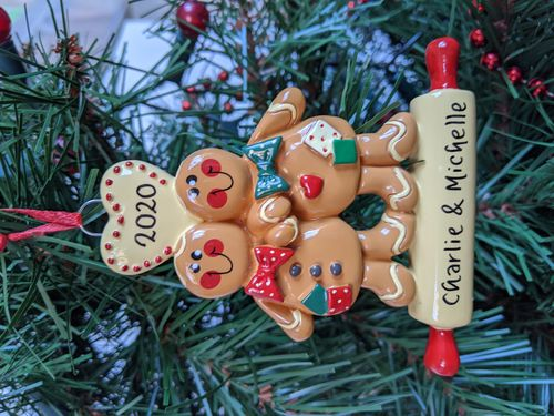 Gingerbread Couple Personalised Decoration