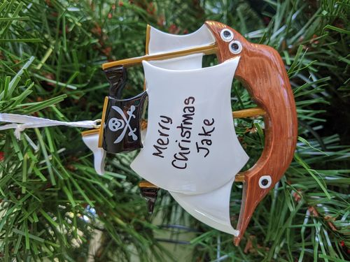 Pirate Ship Personalised Decoration